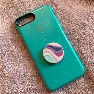 Speck iPhone 7/8 Plus case with Popsocket